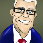 Caricature of Larry Kich